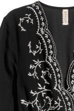 Embroidered dress - Black - Ladies | H&M 4